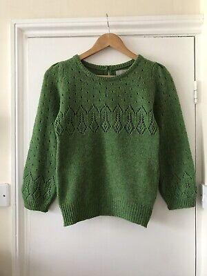Margaret Howell Wool Jumper Sweater - Lace Knit - Size 8