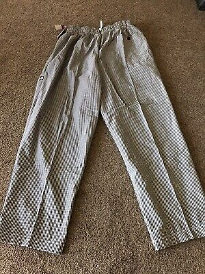 Chef Works Designer Chef Pants Size Small NBCP-000-S Checkered Baggy New NWT