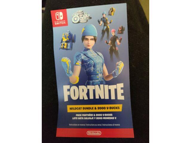 Nintendo Switch Fortnite Wildcat Bundle Code & 2000 VBucks NEW! Console Not Inc.