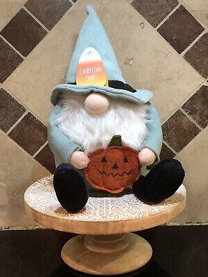 CANDY CORN LANE Fall HALLOWEEN Thanksgiving GNOME with PUMPKIN Display w/ RAE!