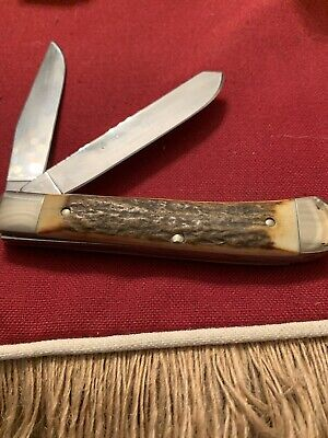 Vintage BOKER Tree Brand. Stag 2525 ST LARGE STAG TRAPPER AWESOME STAG 003