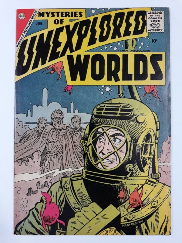 Mysteries of Unexplored Worlds #8 Charlton Comics Ditko 1958 See Photos