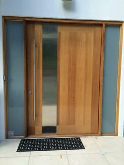 pivot front door sidelight building materials