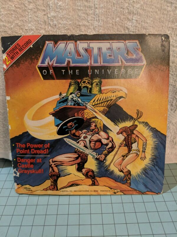 MOTU Masters of the Universe He-Man Comic Book with 2 Stories w/record Mattel