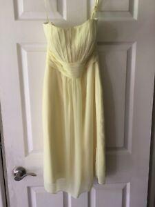 Yellow dress removable straps