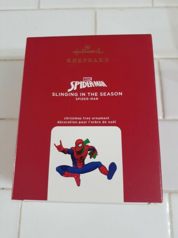 Hallmark 2020 Marvel Spiderman Slinging In The Season Christmas Ornament