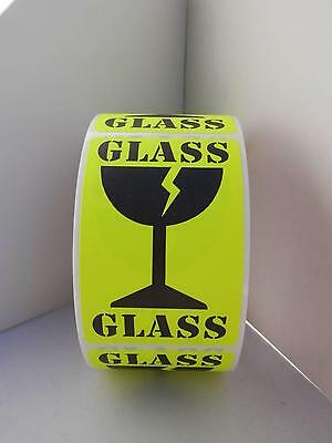 Fragile Glassglass Large Intl Symbol Fluor Chartreuse Stickers Labels 250rl