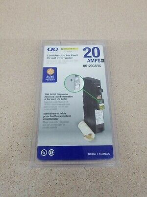 New Qo120cafic Square D Qo 20-amp 1-pole Combination Arc Fault Breaker