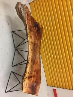 Handmade natural seasoned  Blackwood bench