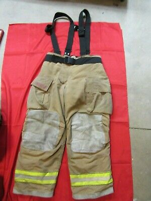 Mfg. 2009 Globe Gxtreme 38 X 30 Firefighter Turnout Bunker Pants Suspenders