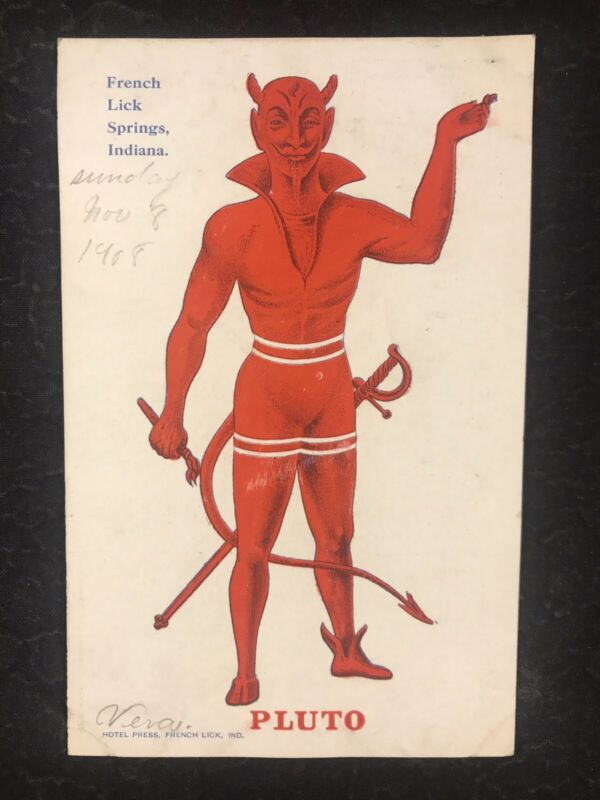 Red Devil Pluto Water French Lick Springs Indiana Early Cure Advertising