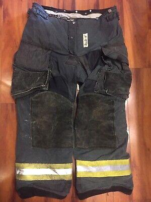 Firefighter Janesville Lion Apparel Turnout Bunker Pants 36x30 Black Costume