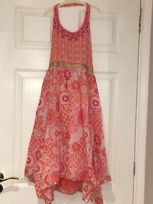 Pink Dress For Girl (**MONSOON** Girl's Pink & Orange Halter Neck Dress 12-13)