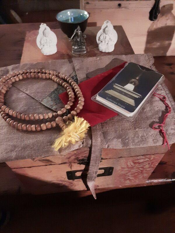 Buddhist 108 Prayer Beads Necklace- 3 Buddha