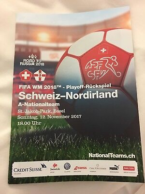 Switzerland V Northern Ireland World Cup Football Programme