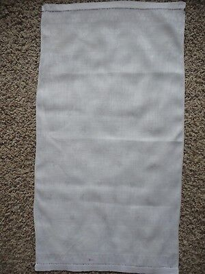 Lovely Vintage Pure White Linen Damask Guest Towel or Runner Shamrocks and Roses
