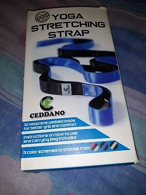 Ceddano Stretching Strap with 12 Neoprene Padded Loops 4 Yoga, Fitness, Gymnasts