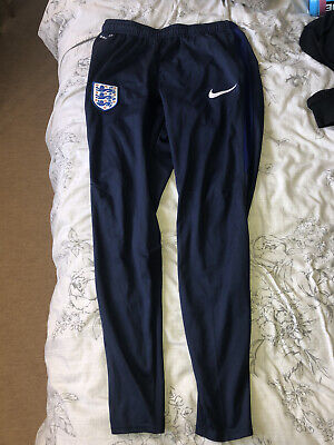 Mens Small Nike Dri-Fit England Training Pants Warmup Bottoms
