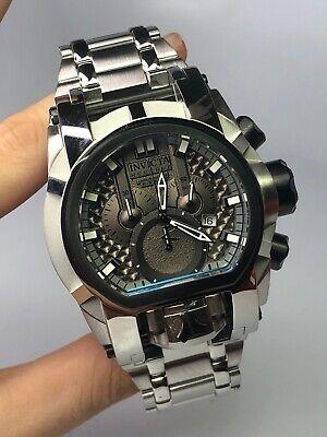 Invicta Reserve Bolt Zeus Magnum Swiss Steel Black Dual Dials 52mm Watch