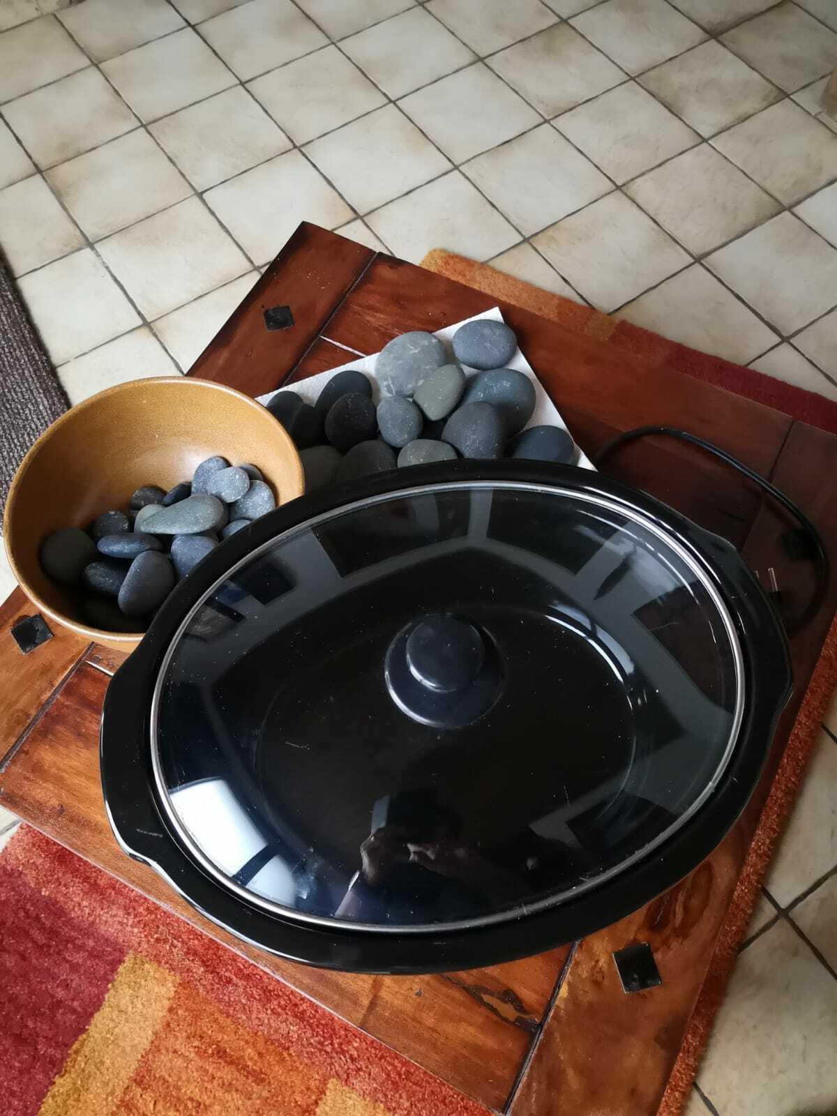 Hot-Stone Massage Set Wärmegerät inkl. Steine