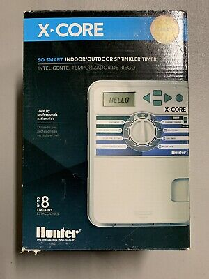 Hunter XC800 X-Core 8-Zone In/Outdoor Smart Sprinkler Timer Controller