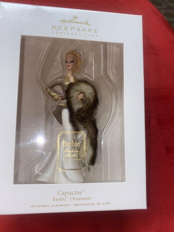 Hallmark Keepsake Club 2009 ornament Capucine Barbie Fashion Model Collection