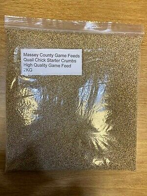 2.5KG Massey Game & Poultry Crumbs Feed Quail Chick Starter High Protein At 26%