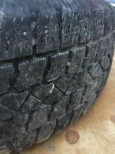 4 used winter tires on rims - used on Nissan Rogue  Peterborough Peterborough Area image 3