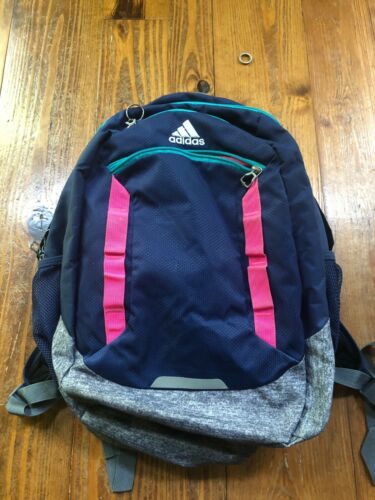 ADIDAS NAVY MULTI-COLOR BOOK BAG BACKPACK
