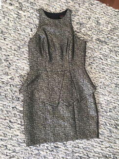 Pilgrim Metallic Peplum Dress