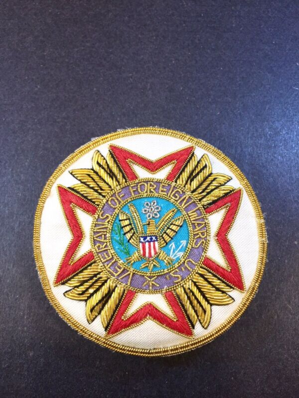"""VFW """"Veterans Of Foreign Wars"""" Bullion Patch Pin Militaria    FAST FREE SHIPPING"""