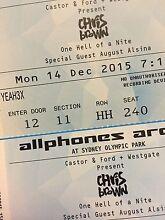 CHRIS BROWN SYDNEY 2X YEAH3X VIP SEATS DEC 14TH St Johns Park Fairfield Area Preview