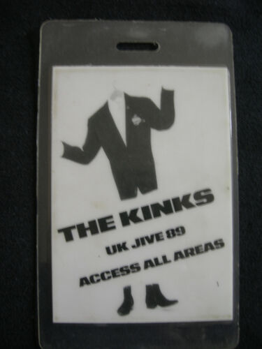 THE KINKS ACCESS ALL AREAS BACKSTAGE PASS 1987 UK JIVE