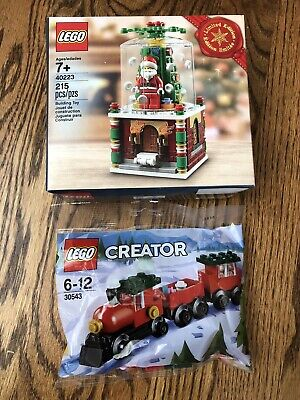 LEGO 40223 Christmas Snow Globe - Limited Edition plus Polybag 30543 Train NEW!