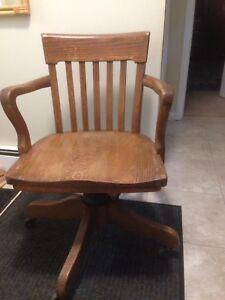 H Krug Furniture Oak Chair