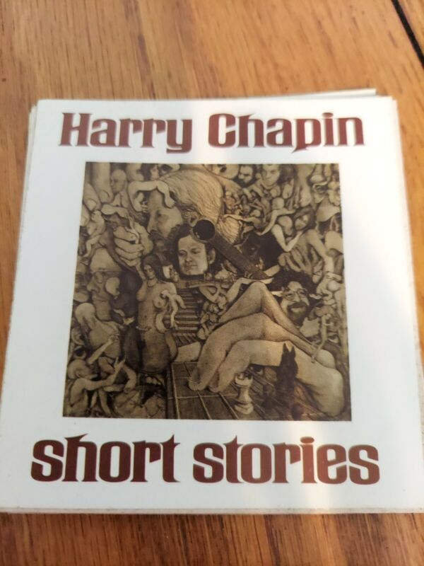 "HARRY CHAPIN ""SHORT STORIES "" 3 INCH SQUARE STICKER"