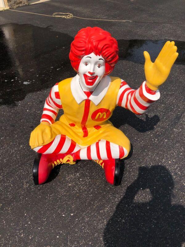 RARE McDonald's Ronald McDonald Life Size Store Statue Display