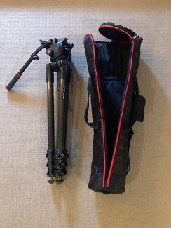 Manfrotto 504HD Head w/536 3-Stage Carbon Fiber Tripod Legs