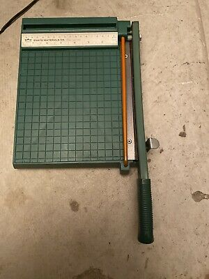Vintage Premier Photo Materials Co Guillotine Paper Cutter 8 X 8 Metric Inches