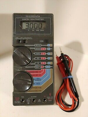 Radio Shack Micronta 22-185a Multimeter New Battery And New Leads
