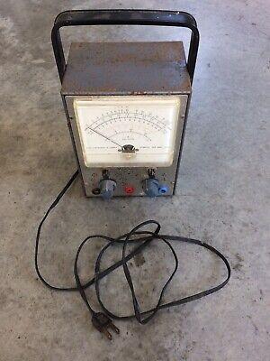Vintage Rca Voltohmyst Type Wv-77e Volt Meter Tube Test Equipment