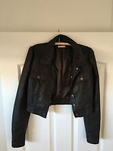 Dark brown cropped leather jacket Ormiston Redland Area Preview