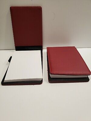 2 Staples Mini Faux Leather Pad Folio 80 Sheets - New