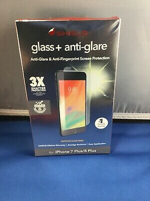New Zagg Invisible Shield Glass + Anti-Glare, For iPhone 7 Plus/ 8 Plus