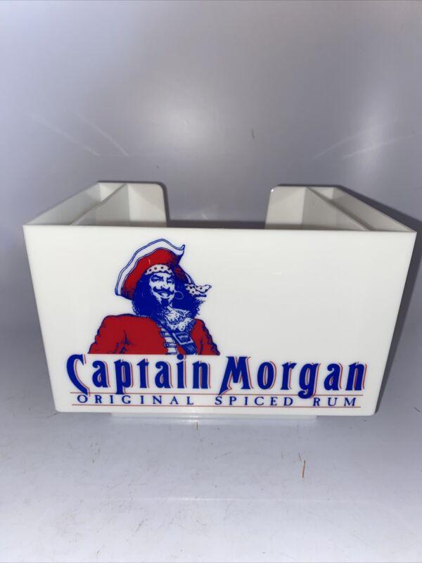 Vintage! 90s! CAPTAIN MORGAN RUM  NAPKIN STRAW HOLDER BAR CADDY New!