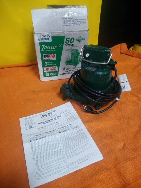 "ZOELLER N53 Mighty-Mate 3/10 HP 1-1/2"" Submersible Sump Pump 115V  4NW36"