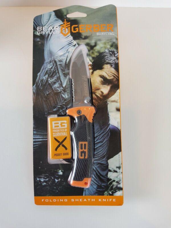 Gerber Bear Grylls Ultimate Folding Sheath Knife BRAND NEW