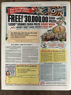 Oxydol Detergent~Jingle Jubilee Contest Cash Prizes~1959 Vintage Print AD A68