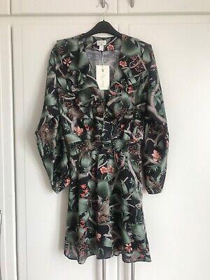 JOHANNA ORTIZ x H&M Flounced Crepe floral  dress, Size S (UK8-10)