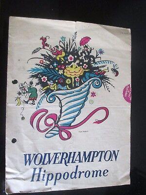 1940 WOLVERHAMPTON HIPPODROME VARIETY SHOW THEATRE  PROGRAMME